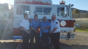 2015 Winner - Cosby Volunteer Fire Department, Left to right: Lieutenant Dustin Parks; Firefighter Darrell Parks, Firefighter Jason Wilson, and Captain Craig Anders