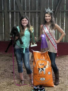 2015 Dog Show Champion with our 2015 Fairest of the Fair