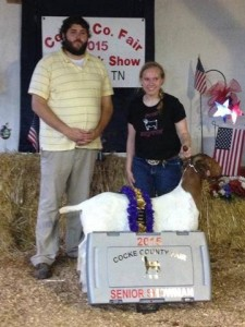 2015 Open & Junior Goat Show Champion & Senior Goat Showman